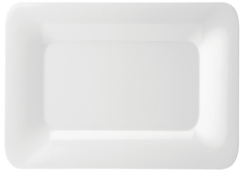 """Melamine Rectangular Rimmed Plate 14x10"""" (35.5x25.5cm)6"""