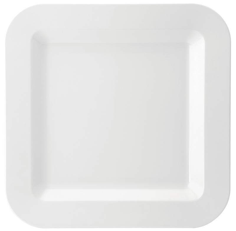 "Melamine Square Plate 17.25"" (43.5cm)6"