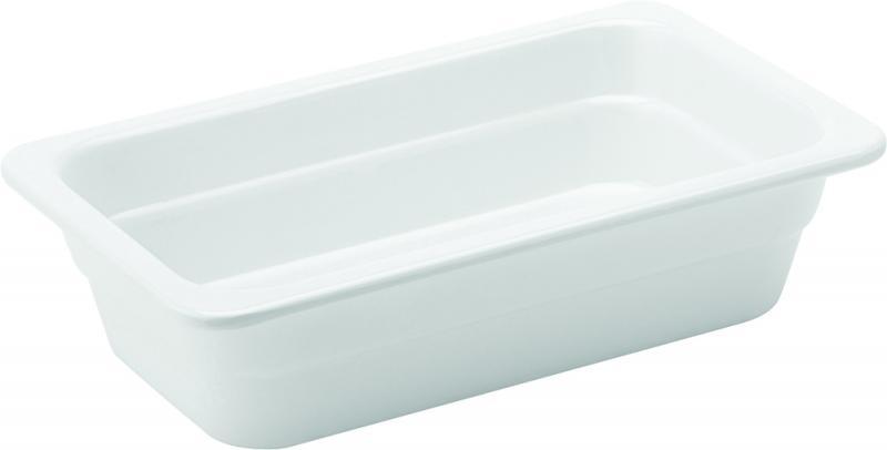 """Melamine White GN 1/4 - 2.5"""" (6.5cm) Deep"""