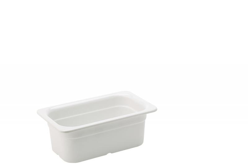 """Melamine White GN 1/4 - 4"""" (10cm) Deep"""