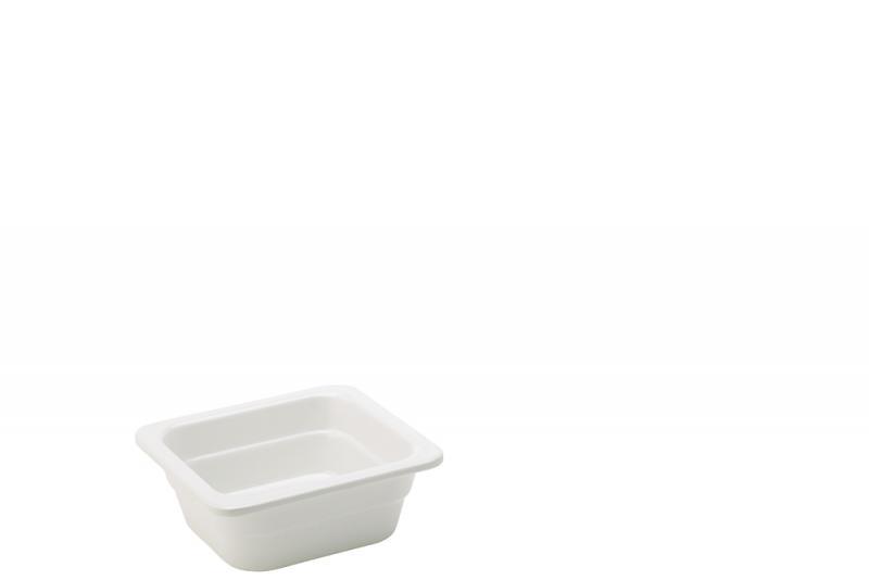 """Melamine White GN 1/6 - 2.5"""" (6.5cm) Deep"""