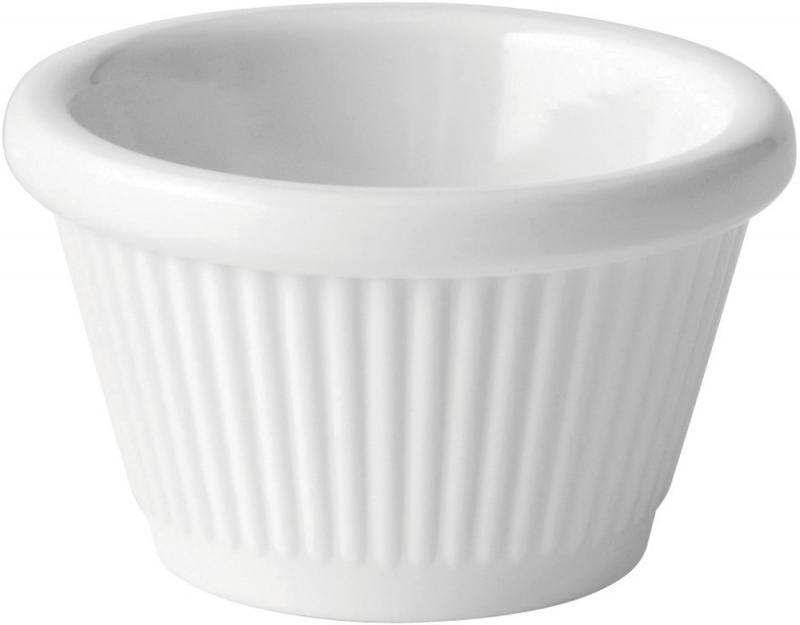 Dippskål ramekin 3 cl melamin vit