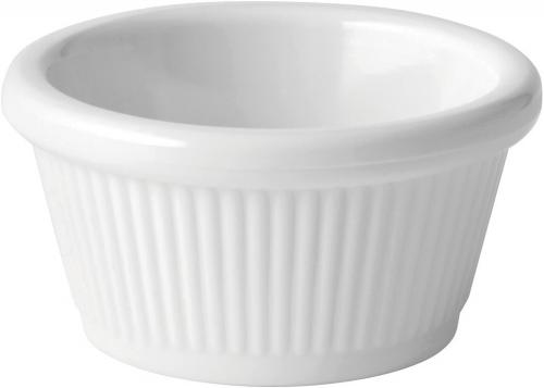 Fluted White Ramekin 2oz (6cl) - 12