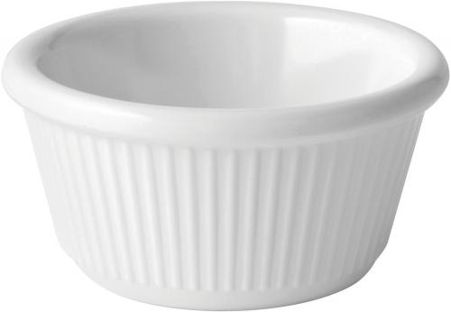 Fluted White Ramekin 3oz (9cl) - 12