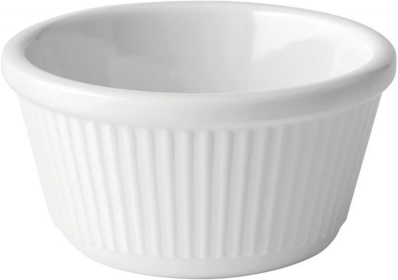 Fluted White Ramekin 4oz (12cl)12