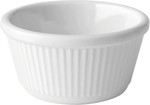 Fluted White Ramekin 4oz (12cl) - 12