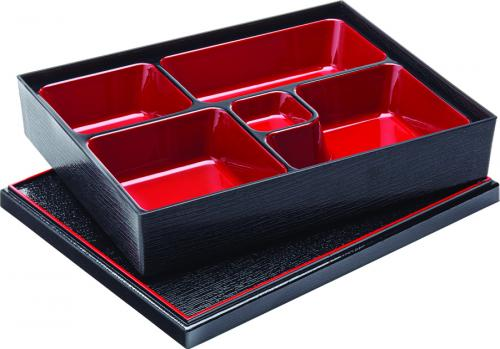 "Bento Box 10.5 x 8.25"" (27 x 21cm) - 5 Compartment-5"