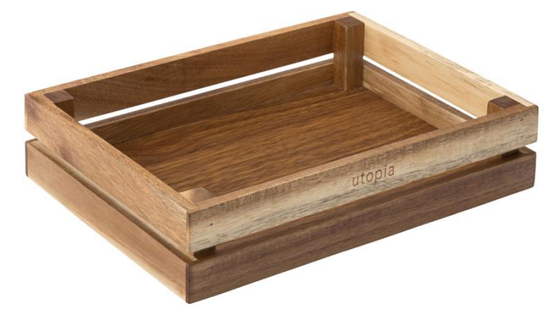 """Acacia Crate 10 x 7.5"""" (26 x 20cm)6"""