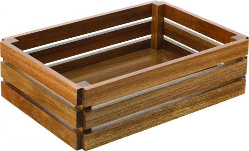 """Acacia Large Crate 12.5 x 8.5"""" (32 x  22cm) H: 3.5"""" (9cm)1"""