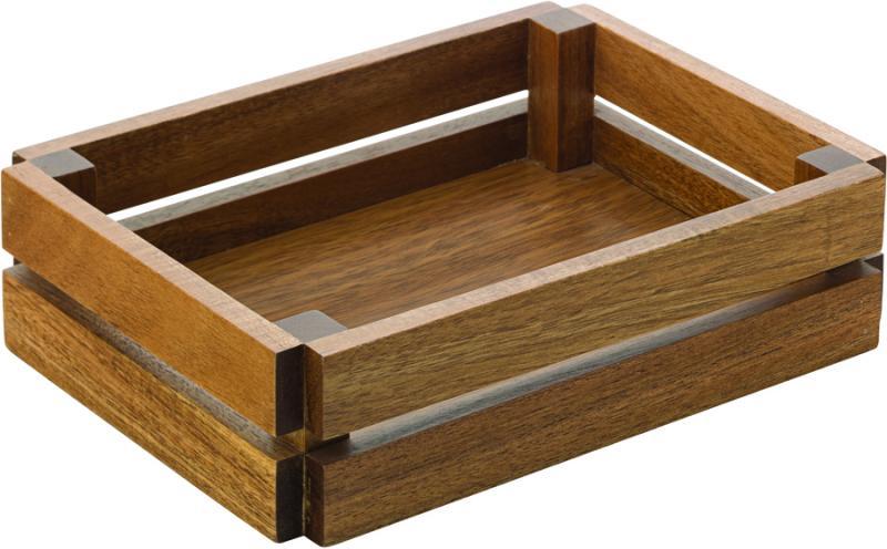 "Acacia Small Crate 8.75"" x 6.25"" (22 x 16cm) H: 2.25"" (5.75cm)6"