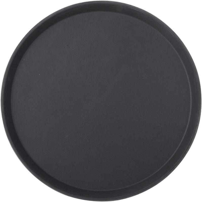 "Black Non Slip Tray Round 14"" (35.5 cm)12"