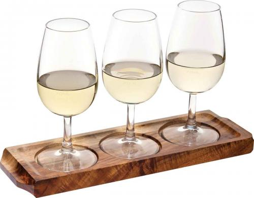 "Acacia Wine/Beer Flight 11.5 x 3.5"" (29 x 9cm) -to hold: 3 x P440037 & 3 x P41772-6"