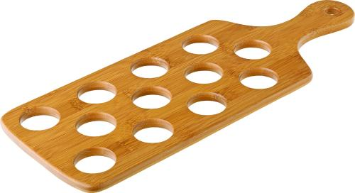 "Bamboo Shot Paddle to hold 12 Shots 16 x 6"" (40 x 15.5cm)"