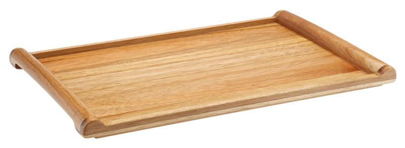 "Acacia Rolled Edged Tray 13 x 8.5"" (34 x 22cm)"
