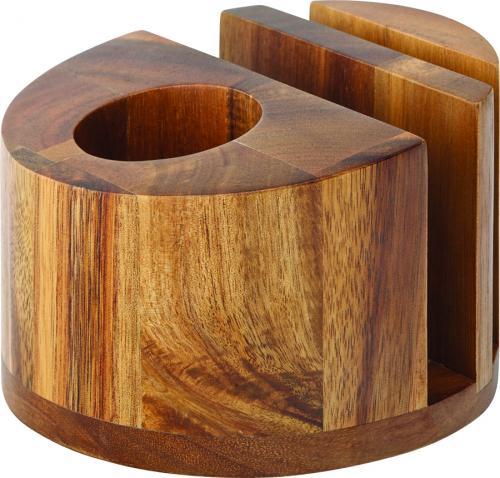 "Acacia Menu/Napkin & Cutlery Holder 5"" (12.5cm)6"
