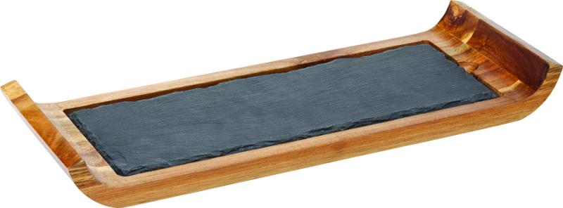 """Reversible Acacia Board with Indents 16.25 x 6"""" (41 x 15cm)6"""
