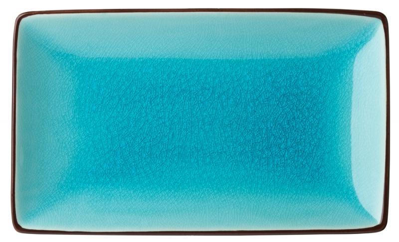 """Aqua Rectangular Plate 8.5x5.5"""" (21x14cm)-6"""