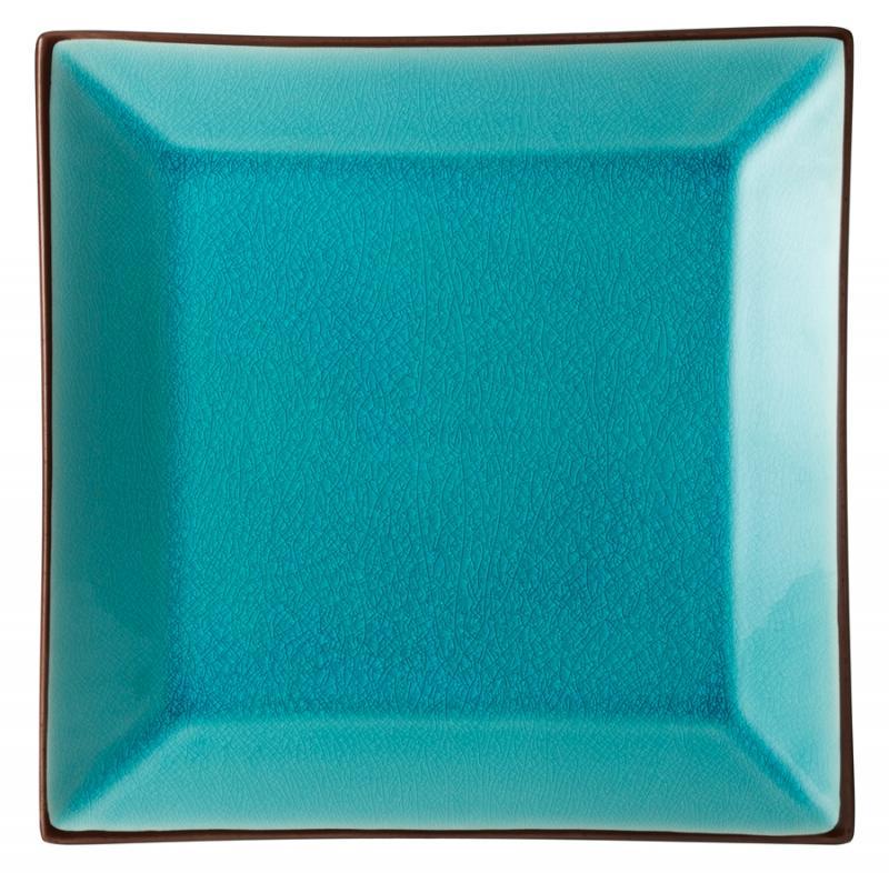 """Aqua Square Plate 10"""" (25cm)"""