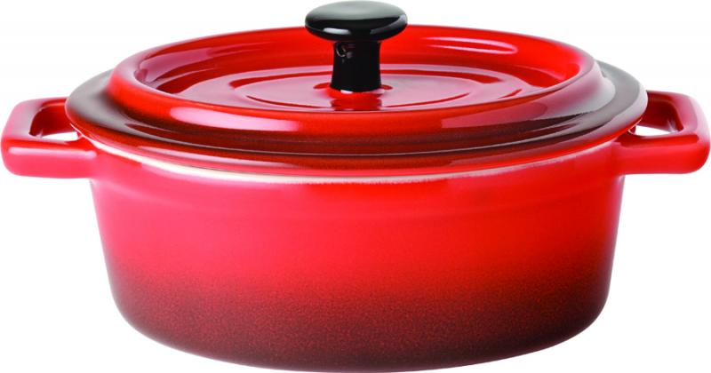"Flame Oval Casserole 6"" (15cm) 17oz (48cl)6"