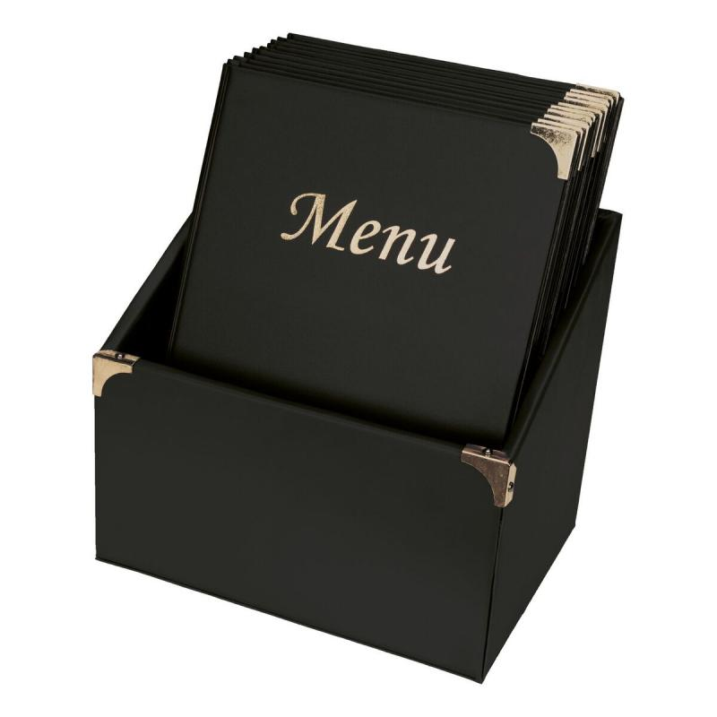 Securit® Basic range menu holders in box - (4 fixed inserts included in each menu holder, which display 8x A4) - Set of 10 A4 menu holders