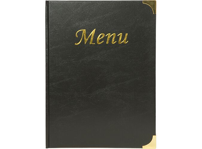 Securit® Basic range menu holder - (4 fixed double-sided inserts included, which display 8x A4) - A4