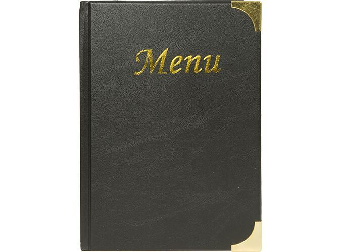 Securit® Basic A4 menu holder, 4 fixed inserts (displays 8 A4 pages)