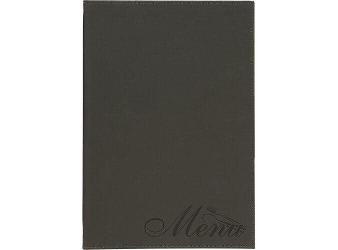 Design velvet  A4 menu holder, 1 double insert incl. (displays 4 A4 pages)
