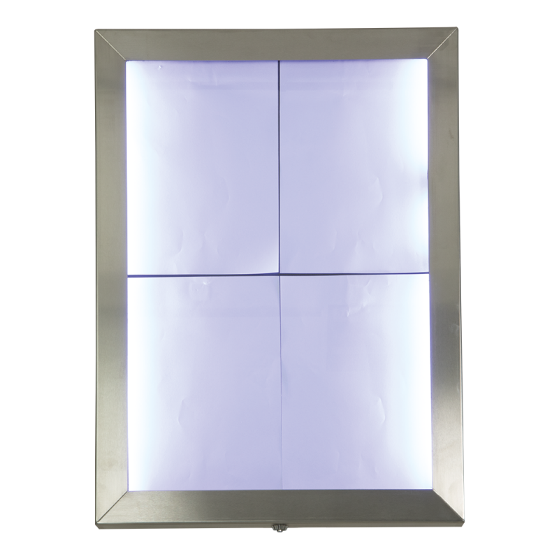Securit® Classic LED information display (excl. pole and base) - White LEDs - 5m cable incl. or use a Securit® battery - For pole or wall mounting ...