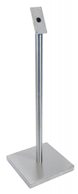 Securit® LED information display - Pole & Base Set -                            Cable incl. - Pole in two parts for easy angeling - 125cm