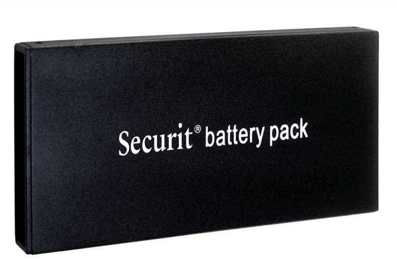 Securit® Lithium Ion (Rechargeable) battery pack for LED information displays and LED lamps.