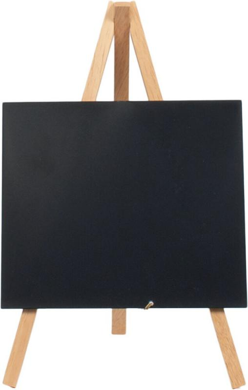 Securit® Mini easel table chalkboard, including chalkmarker  - Wood with lacquered beech finish - 1pc