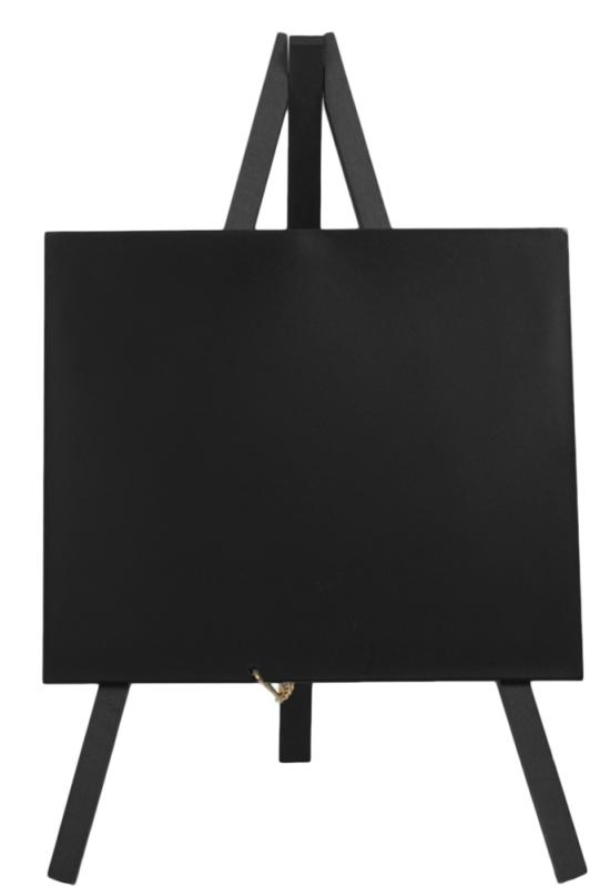 Securit® Mini easel table chalkboard - Wood with lacquered black finish - set of 3