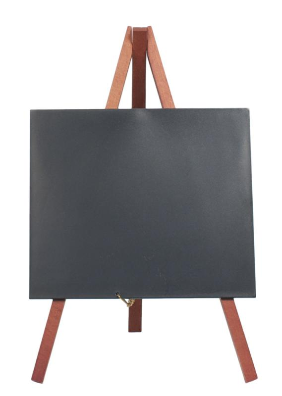 Securit® Mini easel table chalkboard - Wood with lacquered mahogany finish - set of 3