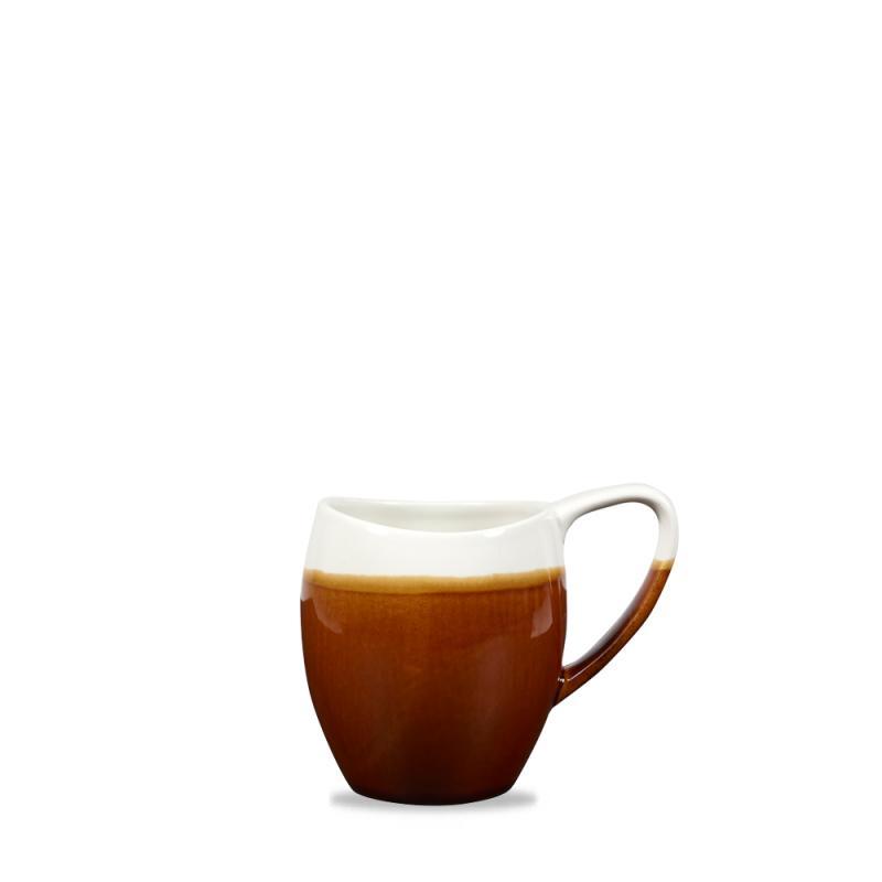 Monochrome Cinnamon Brown Bulb Mug 12.5Oz Box 6
