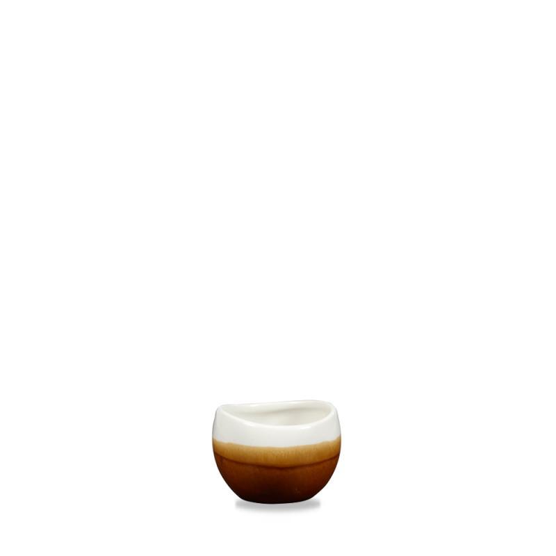 Monochrome Cinnamon Brown Bulb Dip Pot 2.5Oz Box 6