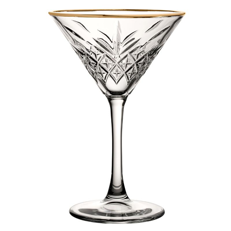 Timeless Vintage Martini Gold Rim 8oz (23cl)