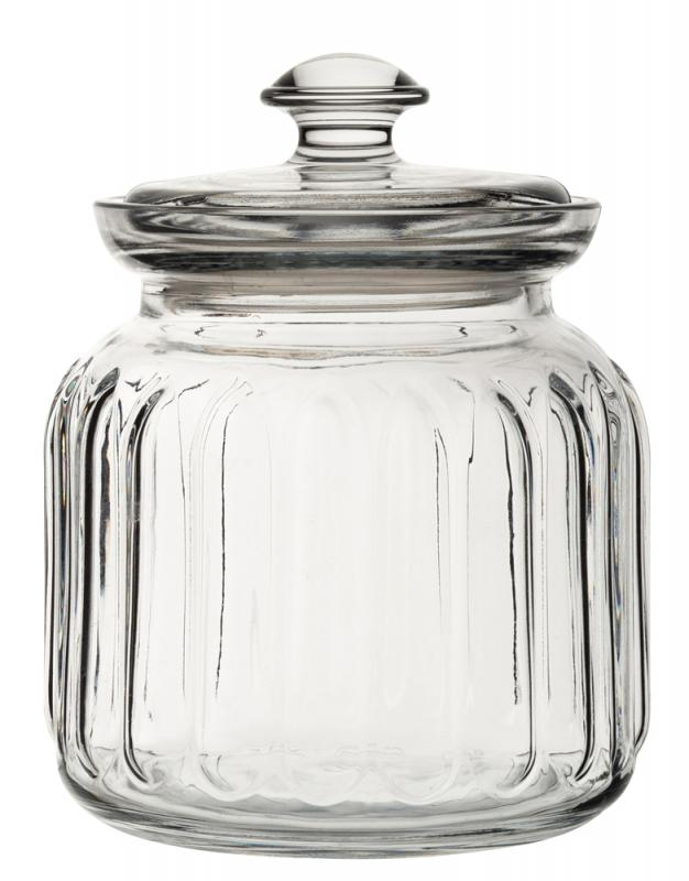 Viva Ribbed Storage Jar 31.5oz (89.5cl)