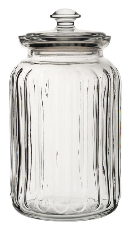 Viva Ribbed Storage Jar 52.75oz (150cl)