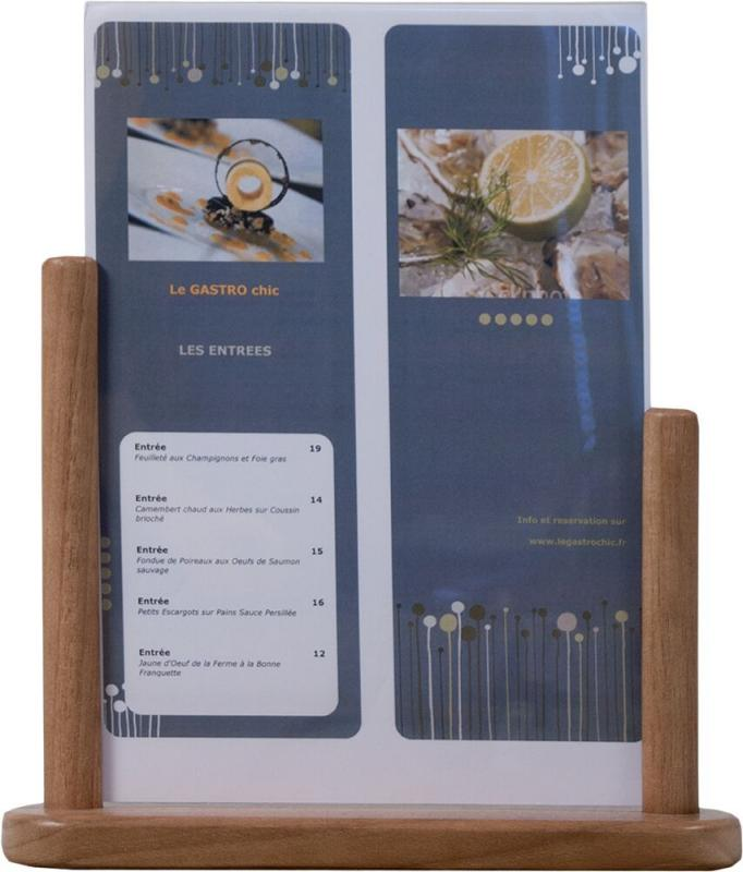 Securit Table poster frame - A4 - Hard Wood  w...