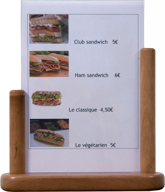Poster frame table medium teak