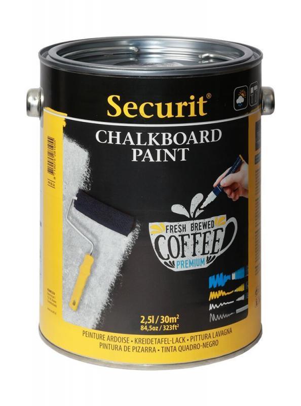 Securit Chalkboard paint - Black - 2,5L