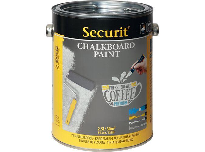 Securit Chalkboard paint - Grey - 2,5L