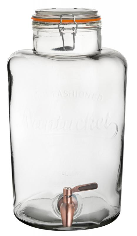 Nantucket Punch Barrel 8.5L - with Copper Tap1