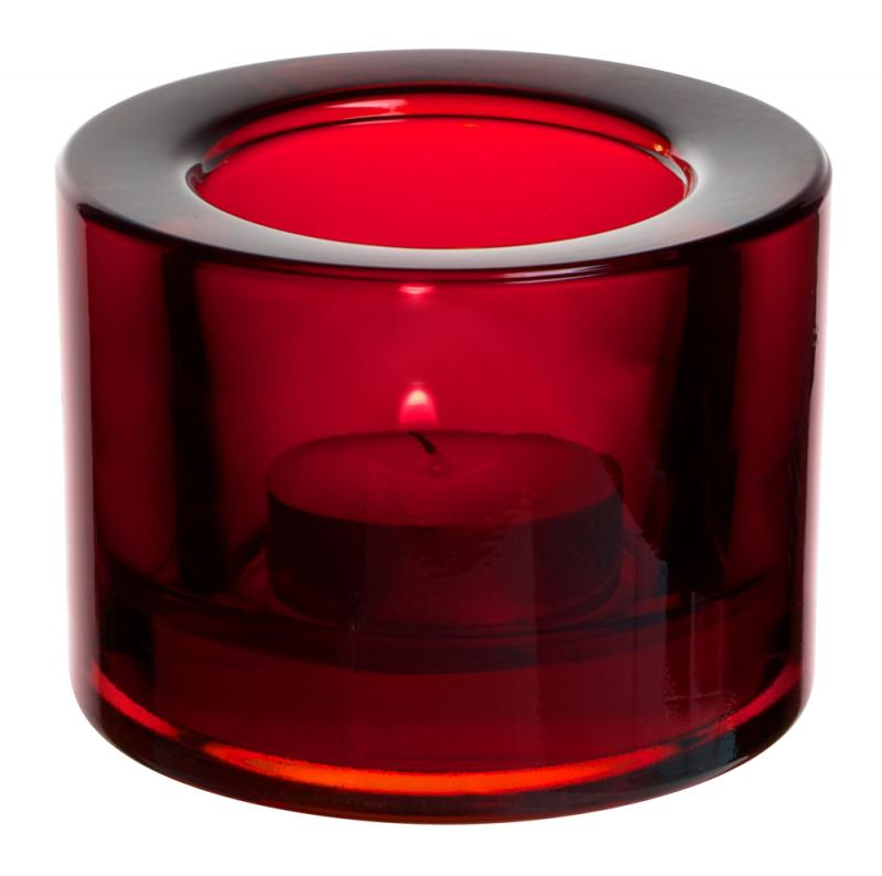 Chunky Tealight Holder - Red12