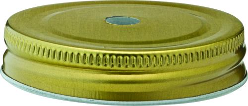 "Gold Lid 2.75"" (7cm) - with Straw Hole-24"