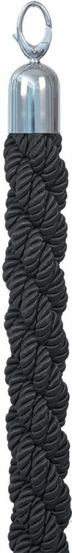 Securit® Classic barrier rope - Twisted rope with golden ends and clip/hook - 150cm
