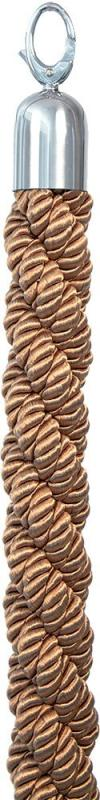 Classic twisted barrier rope - Bronze with chrome ends - 150cm