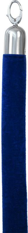 Classic velvet barrier rope - blue with chrome ends - 150cm