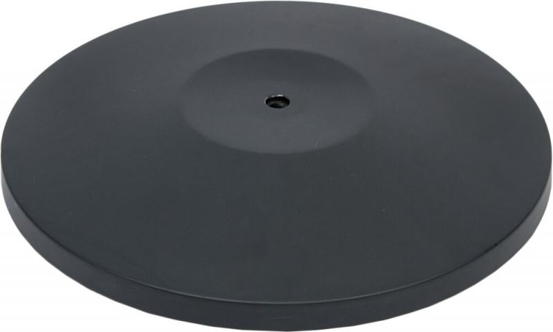 Securit® Black retractable barrier base (excl. pole) - Anti-scratch and floor-protecting