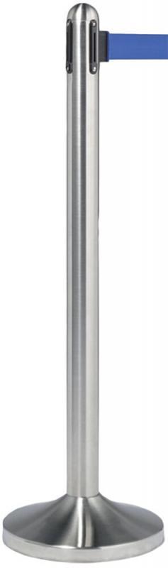 Securit® Retractable barrier pole (excl. base) - Blue nylon tape (210cm)